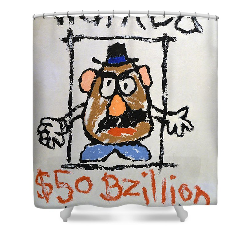 Bad Potato Shower Curtain featuring the photograph Mr. Potato Head Gone Bad by Robert Meanor