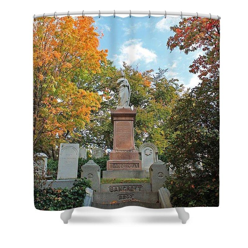 Mt Auburn Cemetery Shower Curtain featuring the photograph Mt Auburn Cemetery 1 by Michael Saunders