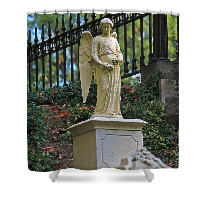 Mt Auburn Cemetery Shower Curtain featuring the photograph Mt Auburn Cemetery 3 by Michael Saunders