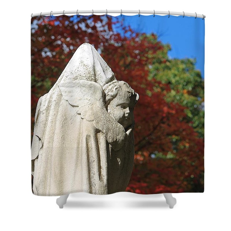 Mt Auburn Cemetery Shower Curtain featuring the photograph Mt Auburn Cemetery 8 by Michael Saunders