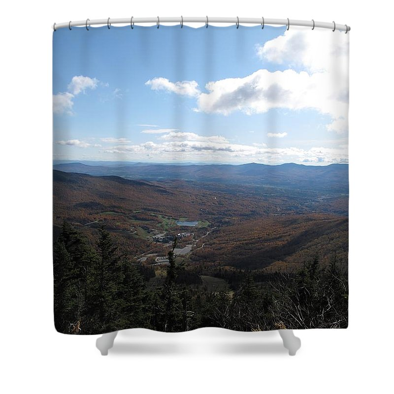 Mountain Shower Curtain featuring the photograph Mt Mansfield Looking East by Barbara McDevitt