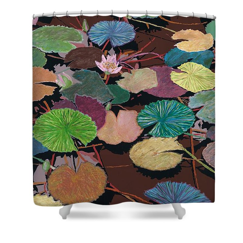 Landscape Shower Curtain featuring the painting Muddy Waters by Allan P Friedlander