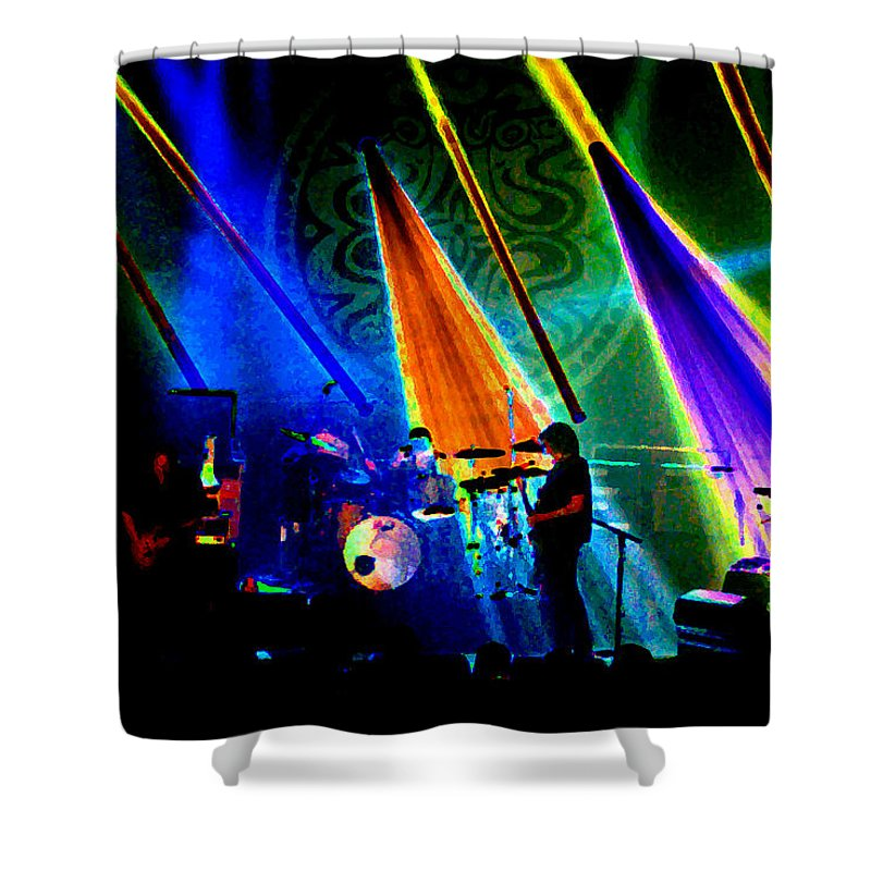 Gov't Mule Shower Curtain featuring the photograph Mule #35 Psychedelically Enhanced 2 by Ben Upham