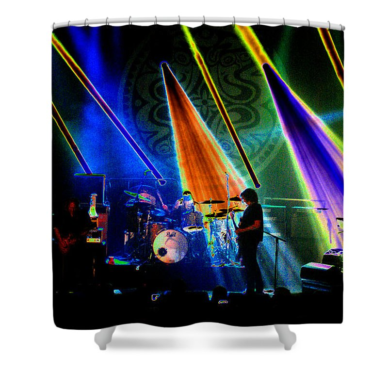Gov't Mule Shower Curtain featuring the photograph Mule #35 Psychedelically Enhanced by Ben Upham