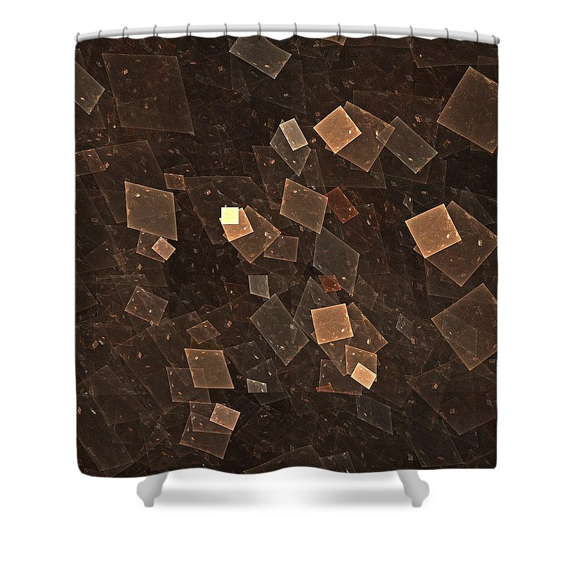 Fractal Shower Curtain featuring the digital art Multiverse by Kevin Round