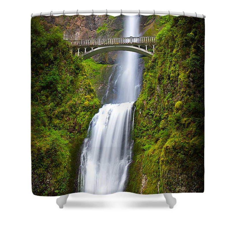 America Shower Curtain featuring the photograph Multnomah Panorama by Inge Johnsson