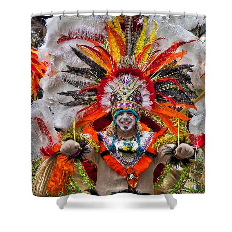 Mummer Shower Curtain featuring the photograph Mummer Wow by Alice Gipson