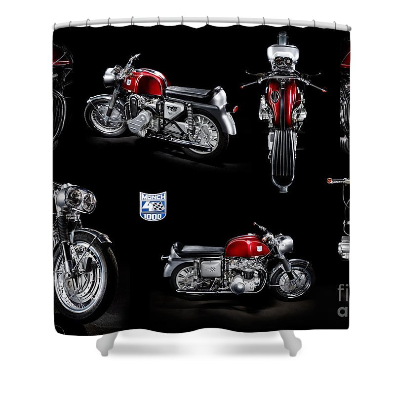 Motorcycle Shower Curtain featuring the photograph Munch 4 1000 Tt by Frank Kletschkus