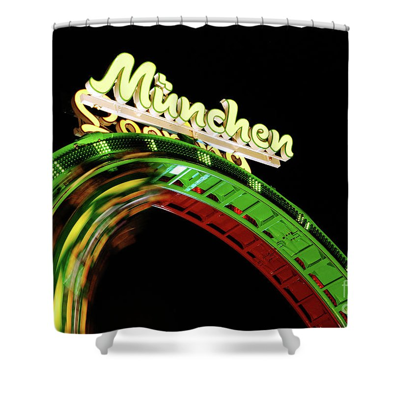 Looping Shower Curtain featuring the photograph Munich Looping by Hannes Cmarits