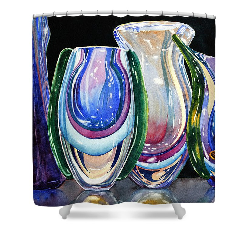 Crystal Shower Curtain featuring the painting Murano Crystal by Roger Rockefeller