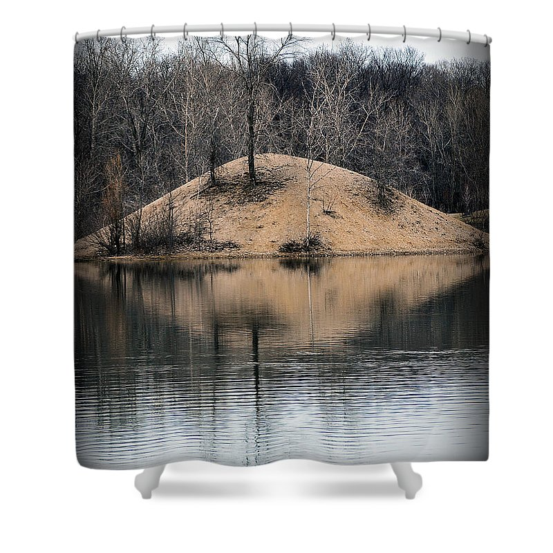 Water Shower Curtain featuring the photograph Murder Island by Gene Tatroe