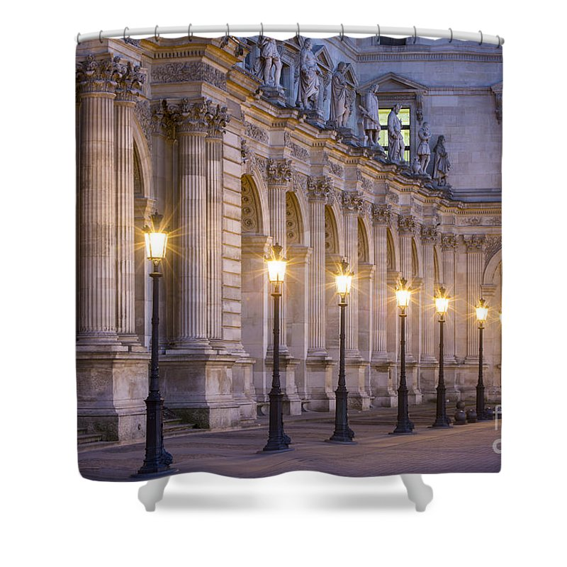 Architectural Shower Curtain featuring the photograph Musee Du Louvre Lamps by Brian Jannsen