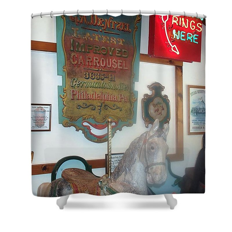 Antique Carousel Shower Curtain featuring the photograph Museum Pieces by Barbara McDevitt
