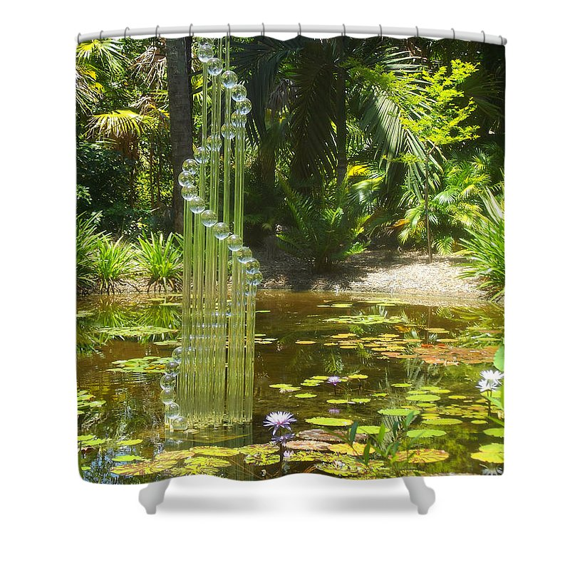 Pond Shower Curtain featuring the photograph Musical Garden by Jennifer Lavigne