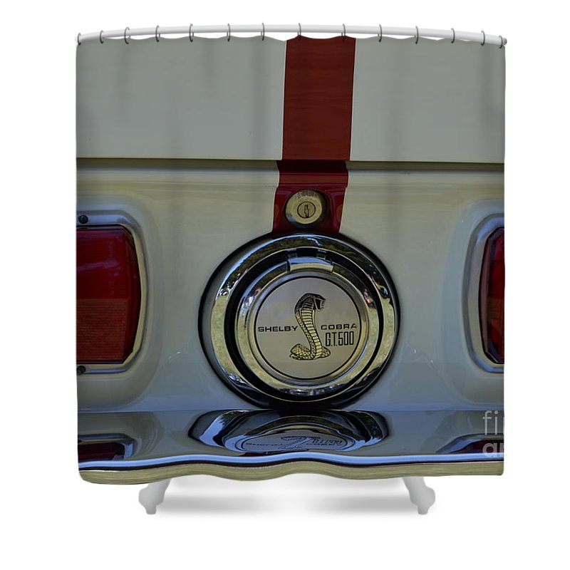 Shower Curtain featuring the photograph Mustang Gt 500 by Dean Ferreira