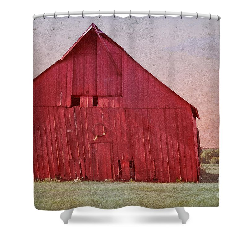 Wooden Barn Shower Curtain featuring the photograph My Days Are Done by Betty LaRue