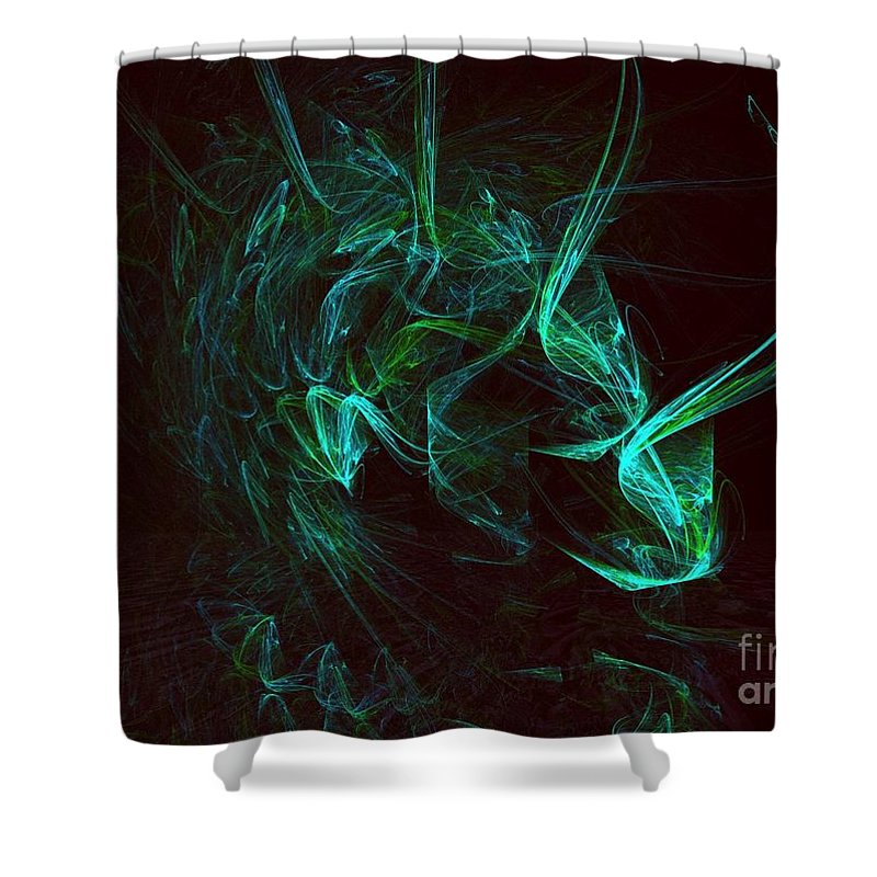 Exotic Pet Shower Curtain featuring the digital art My Exotic Pet by Elizabeth McTaggart