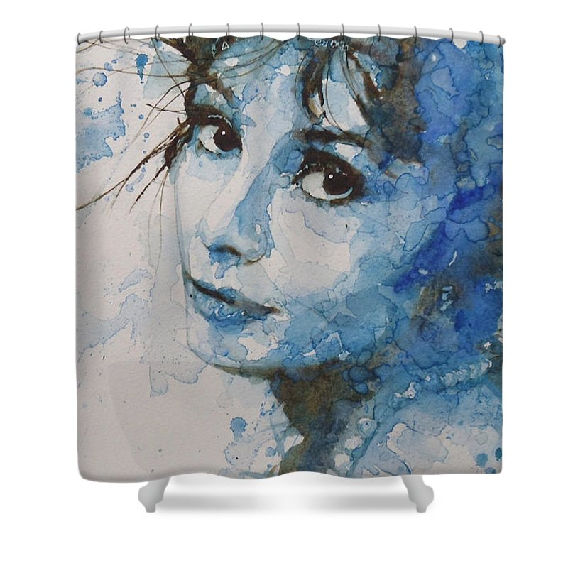 Audrey Hepburn Shower Curtain featuring the painting My Fair Lady by Paul Lovering