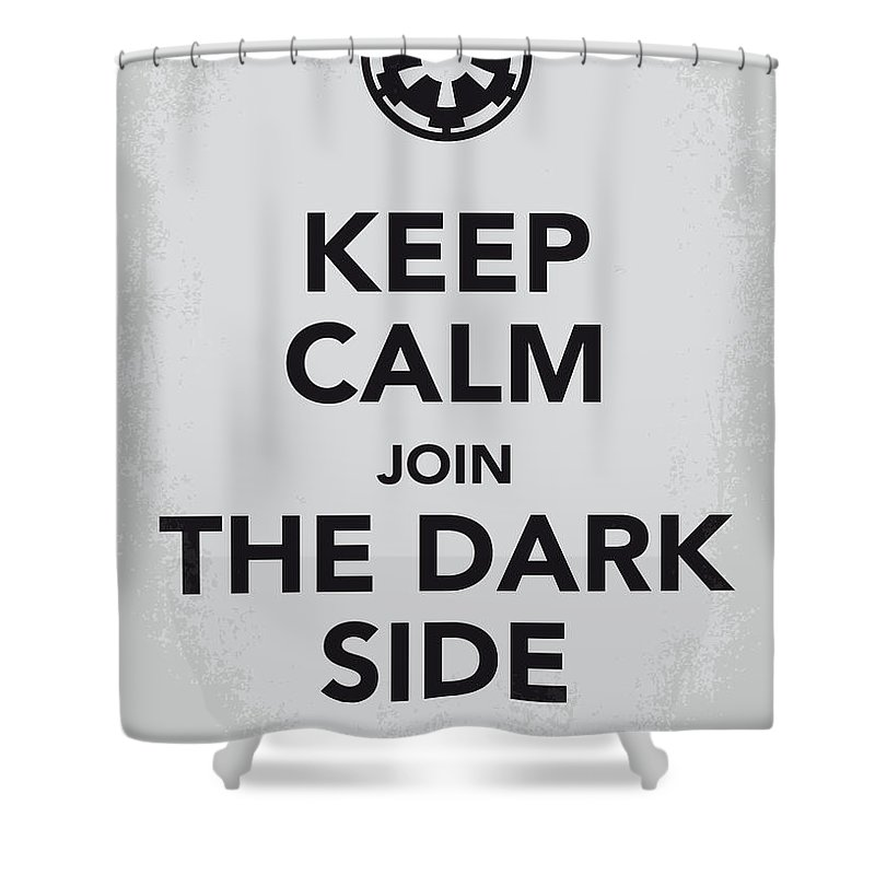 Star Shower Curtain featuring the digital art My Keep Calm Star Wars - Galactic Empire-poster by Chungkong Art