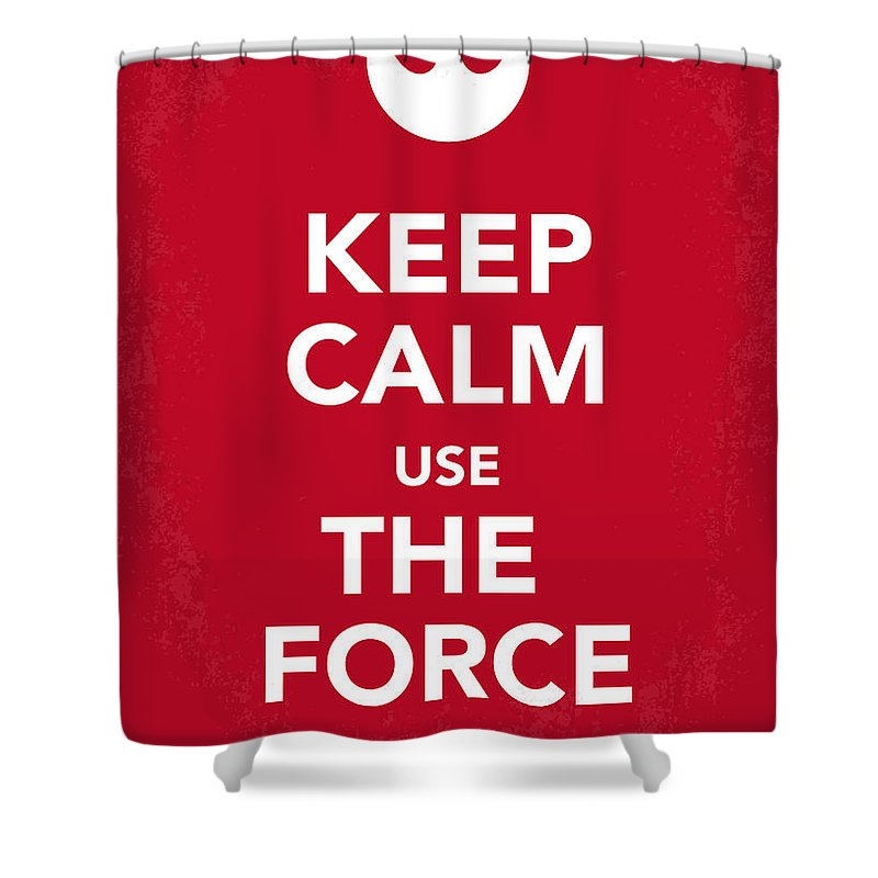 Star Shower Curtain featuring the digital art My Keep Calm Star Wars - Rebel Alliance-poster by Chungkong Art
