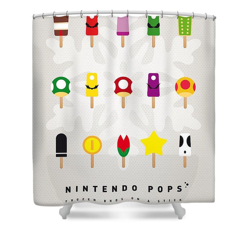 Mario Shower Curtain Featuring The Digital Art My Ice Pop