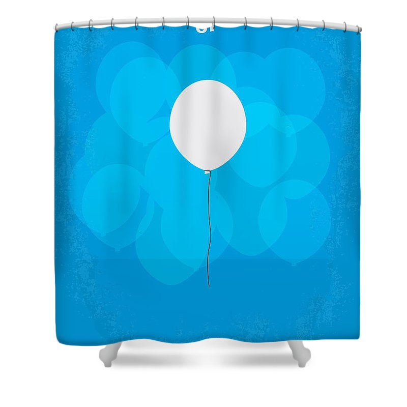 Up Shower Curtain featuring the digital art My Up Minimal Movie Poster by Chungkong Art