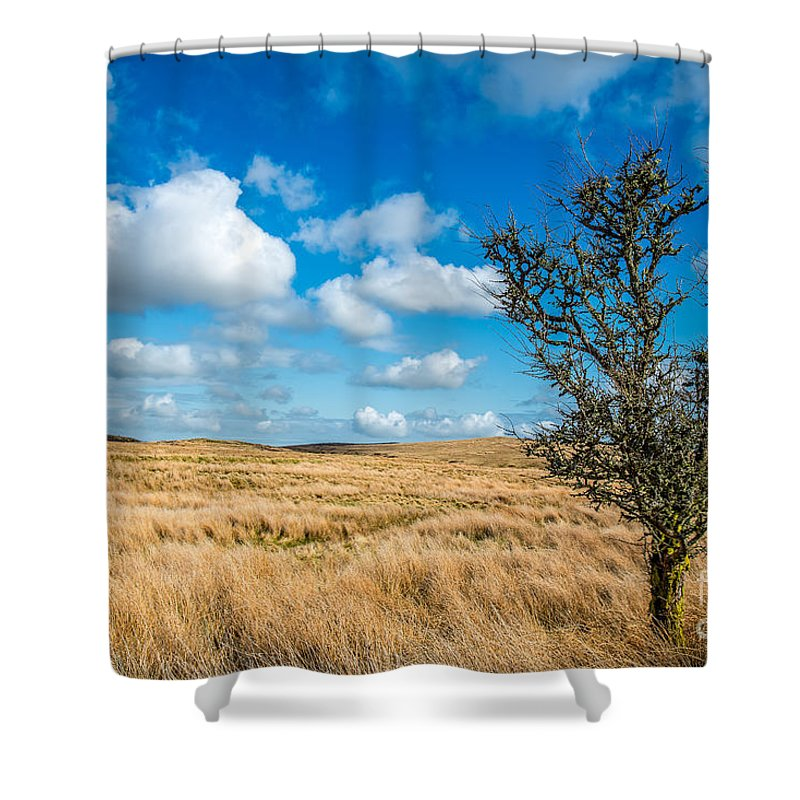 Clouds Shower Curtain featuring the photograph Mynydd Hiraethog by Adrian Evans