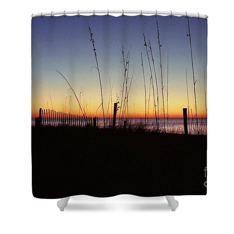 Myrtle Beach Sunrise Shower Curtain featuring the photograph Myrtle Beach Sunrise by Allen Beatty