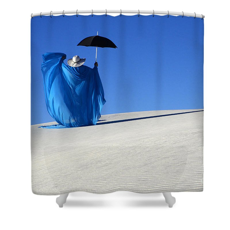 Dream Shower Curtain featuring the photograph Mystic Blue 7 by Bob Christopher
