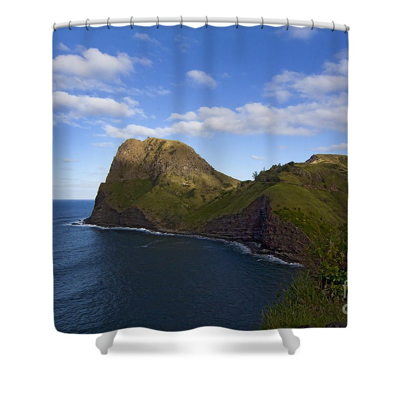 Nakalele Point Shower Curtain featuring the photograph Nakalele Point-signed-#8497 by J L Woody Wooden
