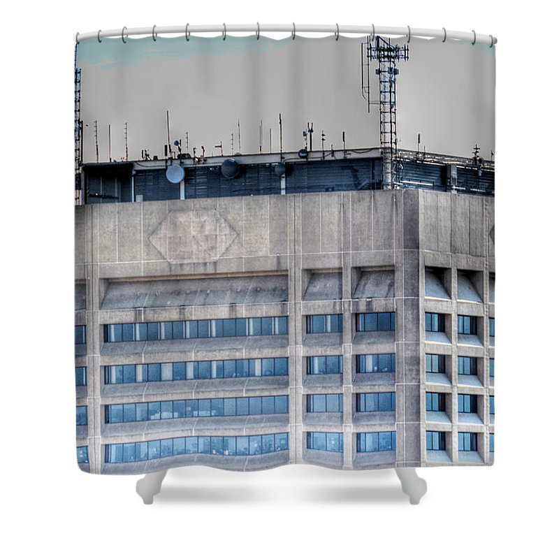 Hsbc Tower Shower Curtain featuring the photograph Naked Hsbc Tower V2 by Michael Frank Jr