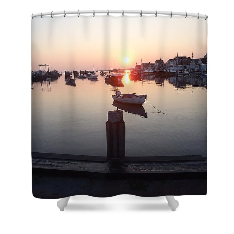 Nantucket Shower Curtain featuring the photograph Nantucket Sunrise 2 by Robert Nickologianis