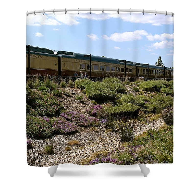 Napa Valley Wine Train Shower Curtain featuring the photograph Napa Valley Wine Train by Michele Myers