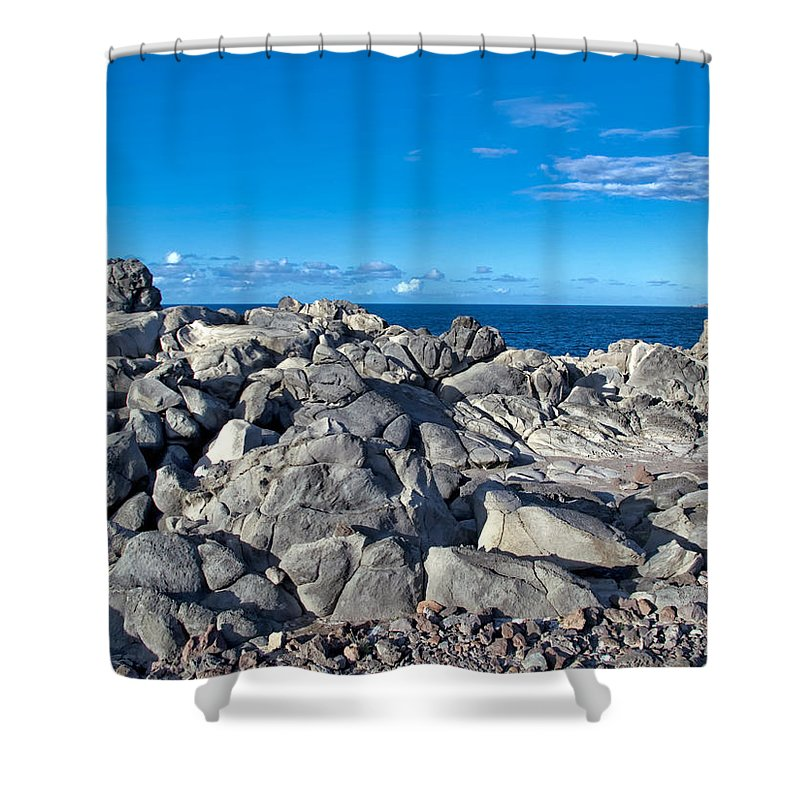 Hawaii Shower Curtain featuring the photograph Napili 111 by Dawn Eshelman