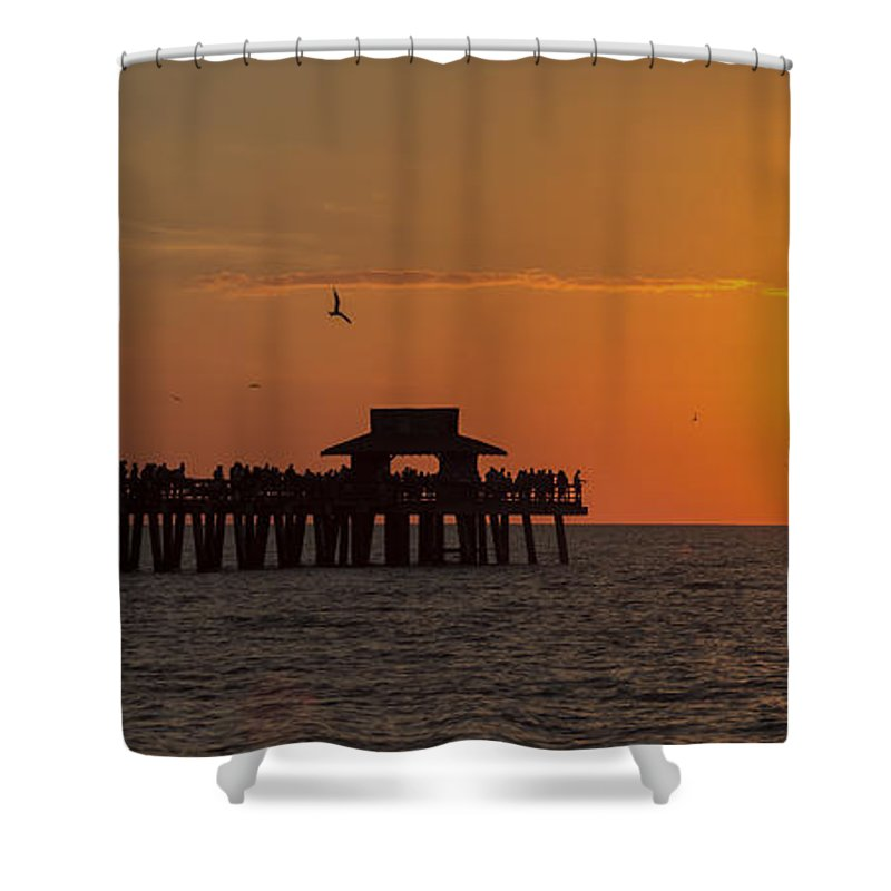 Bayshore Shower Curtain featuring the photograph Naples Sunset by Raul Rodriguez