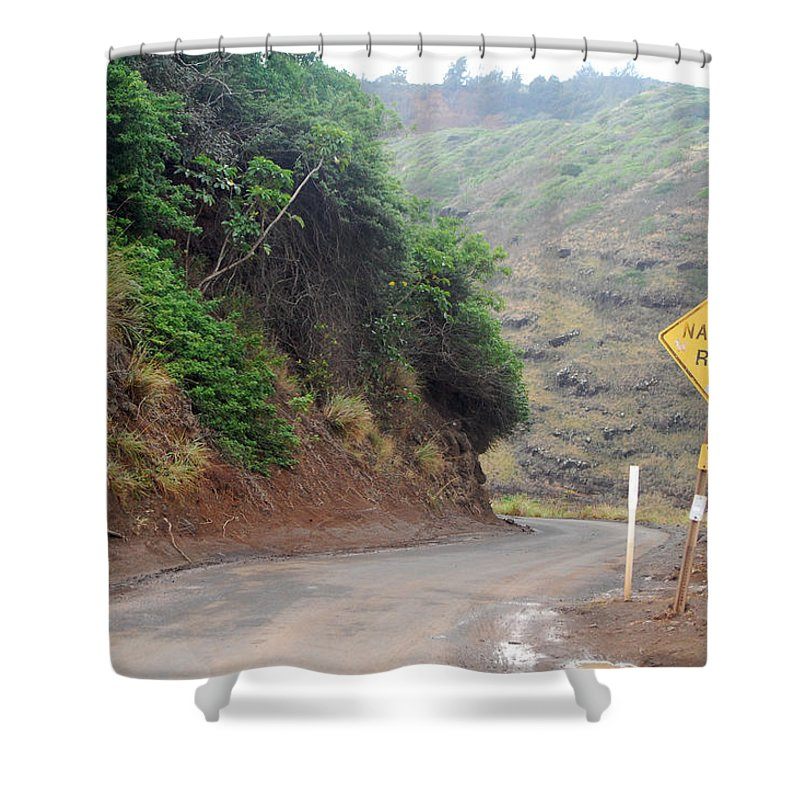 Maui Shower Curtain featuring the photograph Narrow Road - North Maui by Amy Fose
