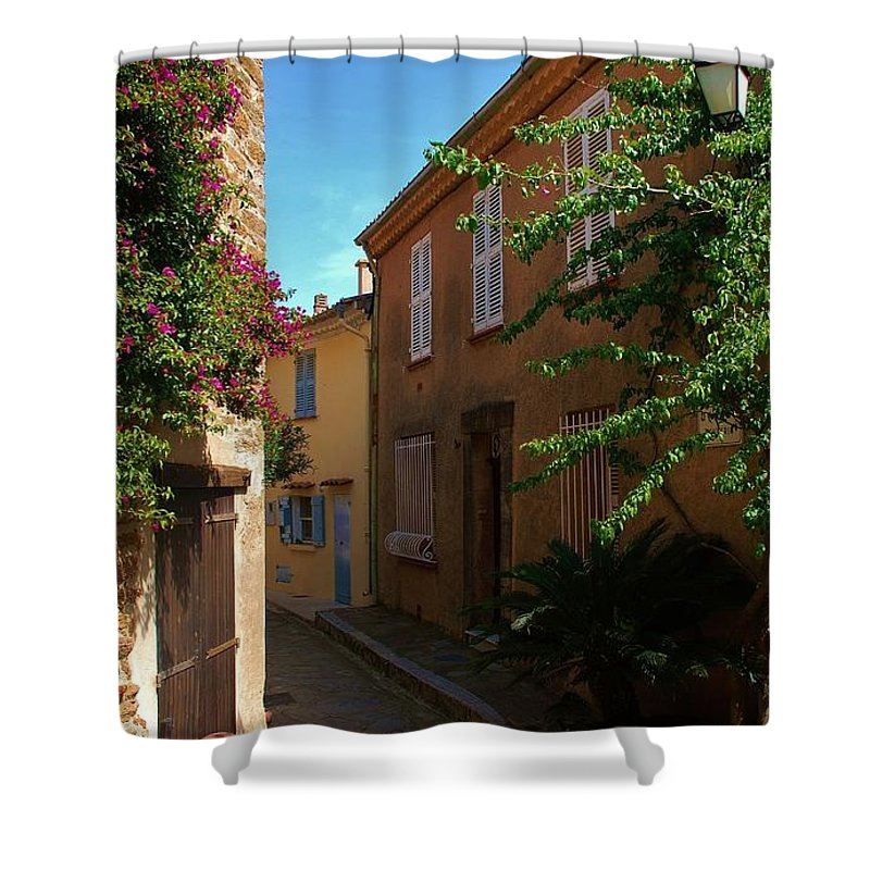 Village Shower Curtain featuring the photograph Narrow Street In The Village by Dany Lison