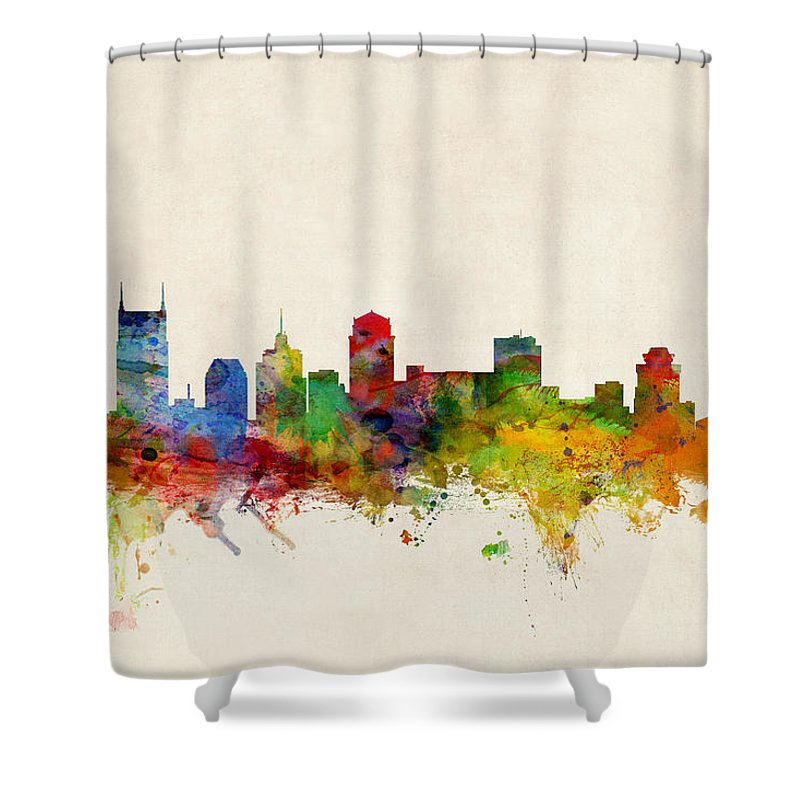 Nashville Skyline Shower Curtains