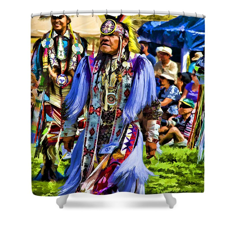 Native American Shower Curtain featuring the photograph Native American Elder by Eleanor Abramson