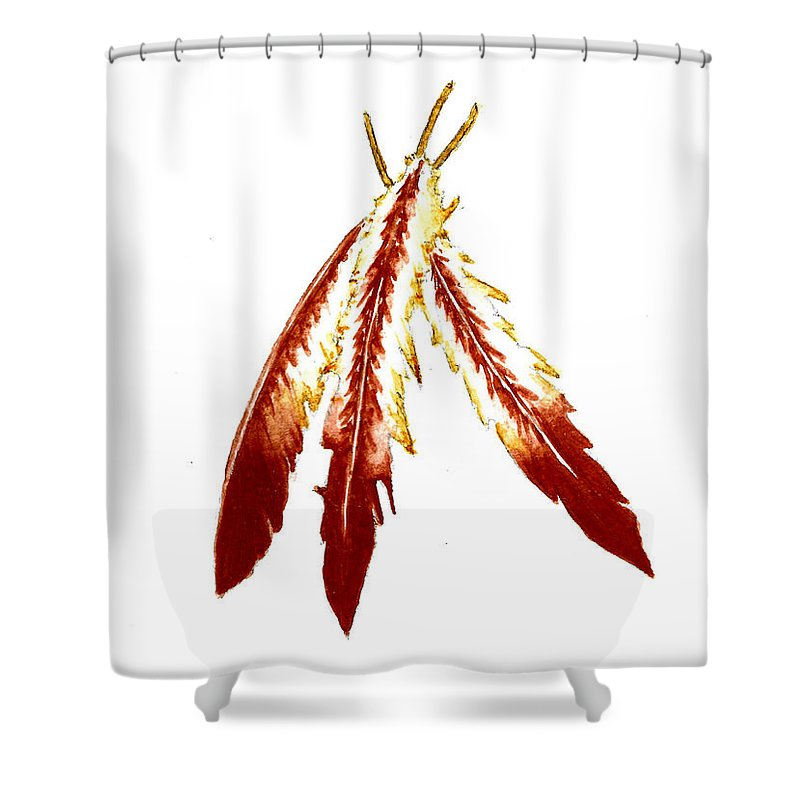 Native American Feathers Shower Curtain For Sale By Michael Vigliotti