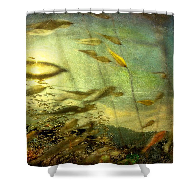 Digital Shower Curtain featuring the photograph Nature #12. Strong Wind by Alfredo Gonzalez