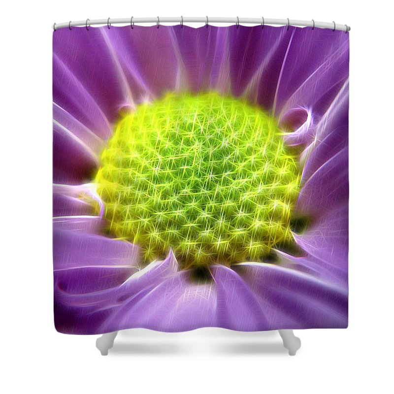 Photo Shower Curtain featuring the digital art Nature's Bling by Rhonda Barrett