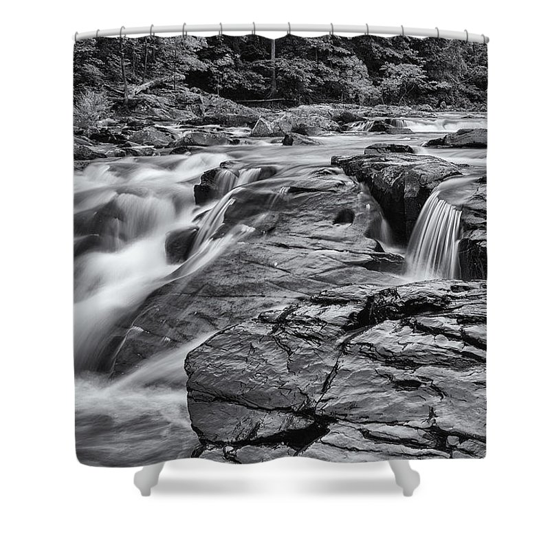 River Shower Curtain featuring the photograph Nature's Moving Magic by Edward Kreis