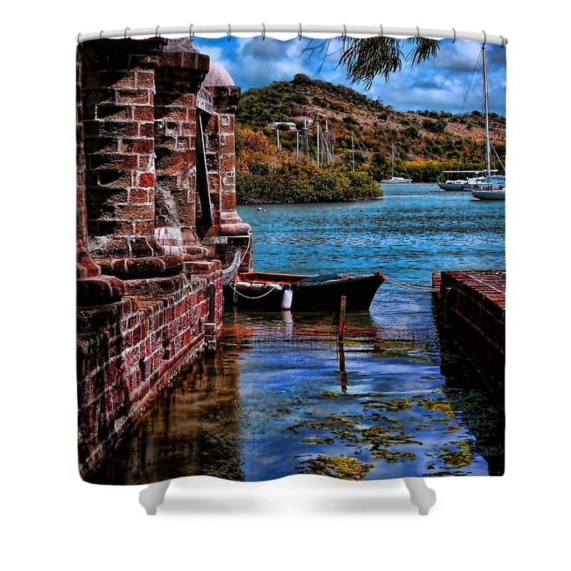 Fine Art America Tom Prendergast Shower Curtain featuring the photograph Nelson's Dockyard Antigua by Tom Prendergast