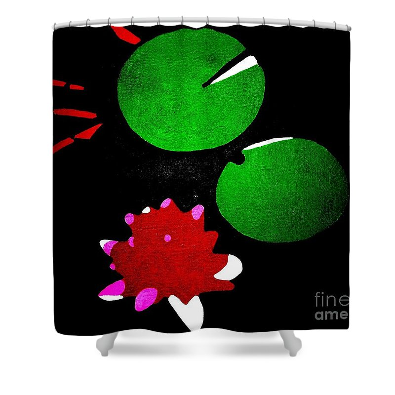 Waterlilies Shower Curtain featuring the painting Nenuphars by Morgan Veissiere