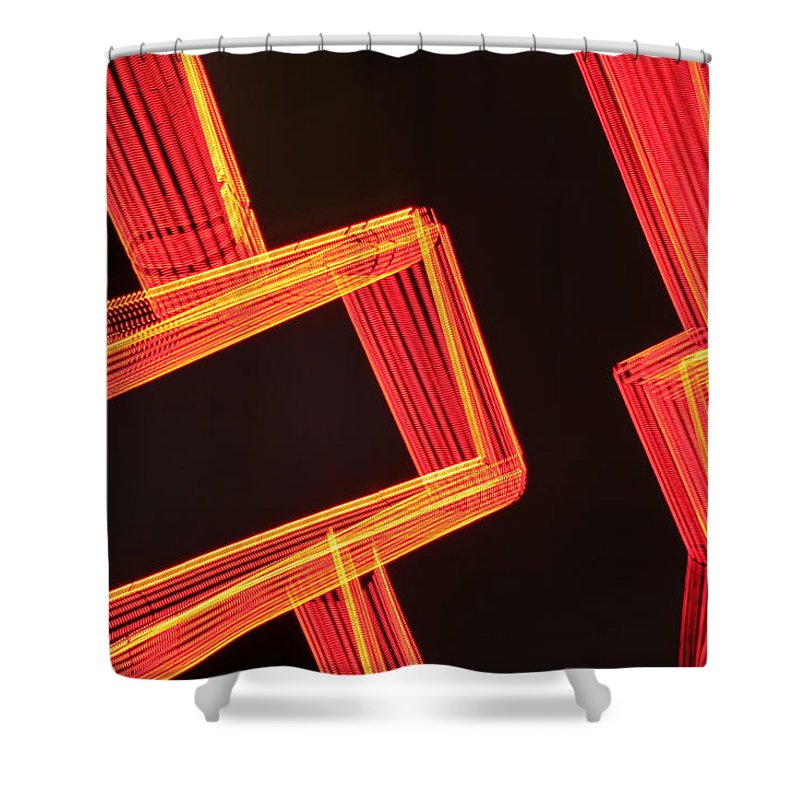 Neon Shower Curtain featuring the photograph Neon Maze by Ric Bascobert