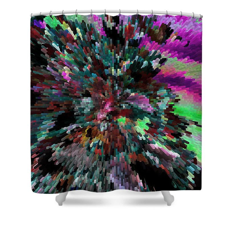 Abstract Art Shower Curtain featuring the photograph Neon Night by Sylvia Thornton