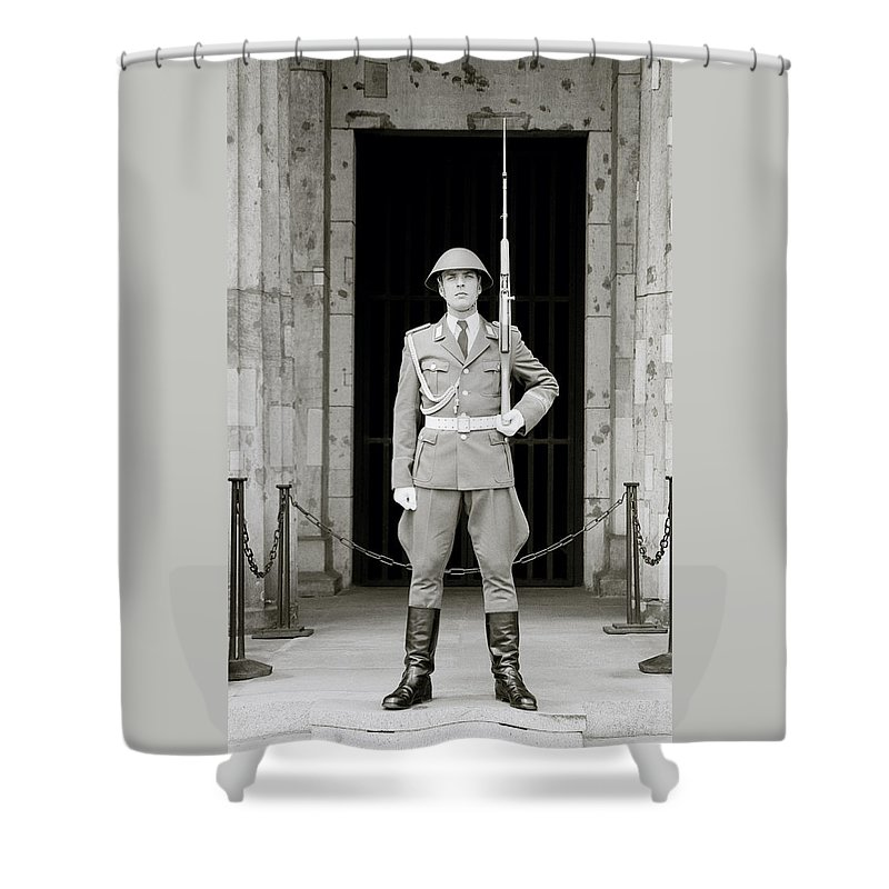 Soldier Shower Curtain featuring the photograph The Soldier by Shaun Higson