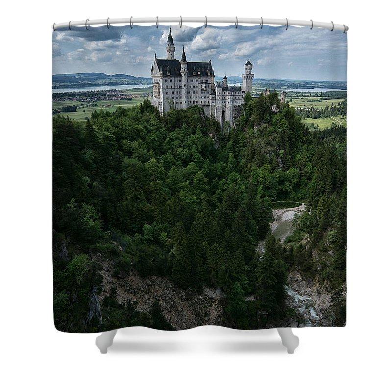Neuschwanstein Castle Shower Curtain featuring the photograph Neuschwanstein by Brothers Beerens