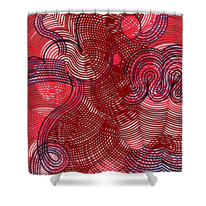 Shower Curtain featuring the drawing Never My Love by George Eley